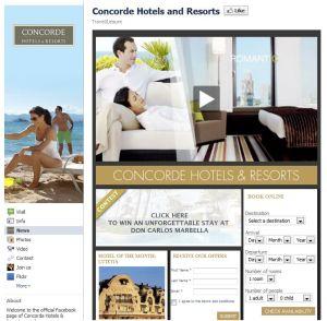 Facebook Concorde Hotels