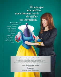 1ere campagne de communication corporate pour Disneyland Paris