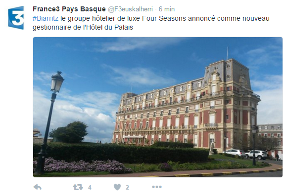 Hôtel du Palais Biarritz Four Seasons