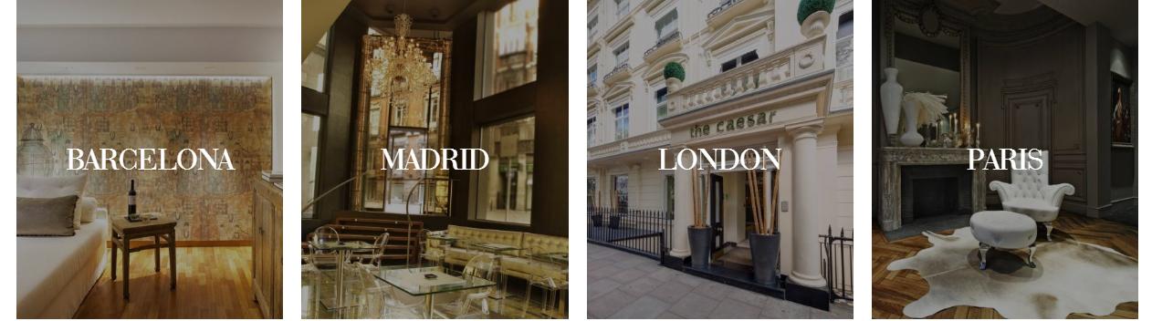 le groupe espagnol derby hotels collection renouvelle sa marque et lance un nouveau site avec. Black Bedroom Furniture Sets. Home Design Ideas