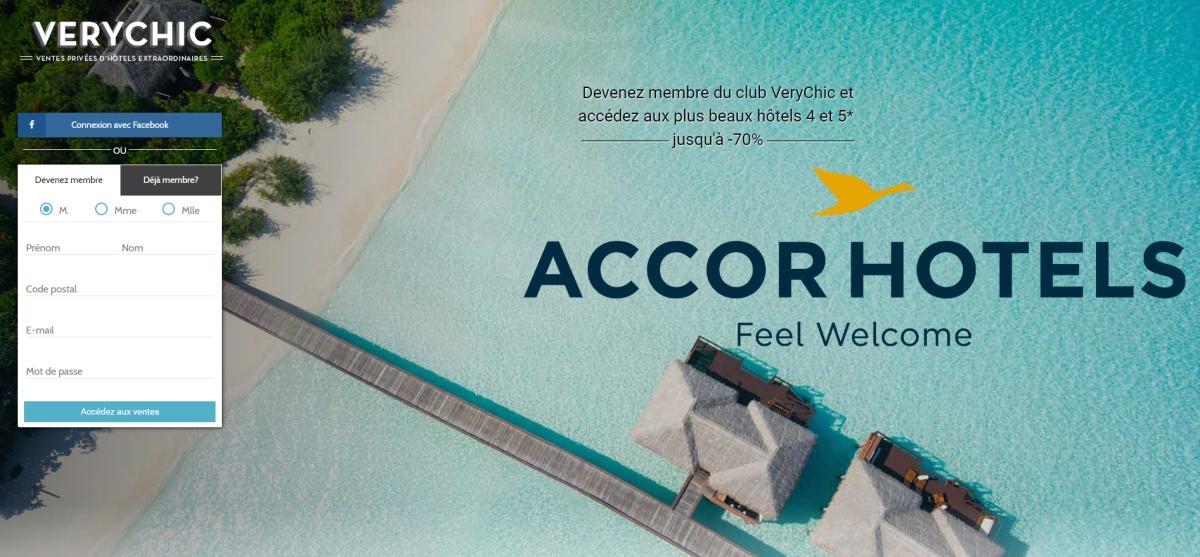AccorHotels continue sa croissance externe en annonçant l'acquisition de VeryChic, plateforme de ventes privées d'hôtels de luxe